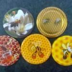 82 és 63 mm-es méhecskés lapkák